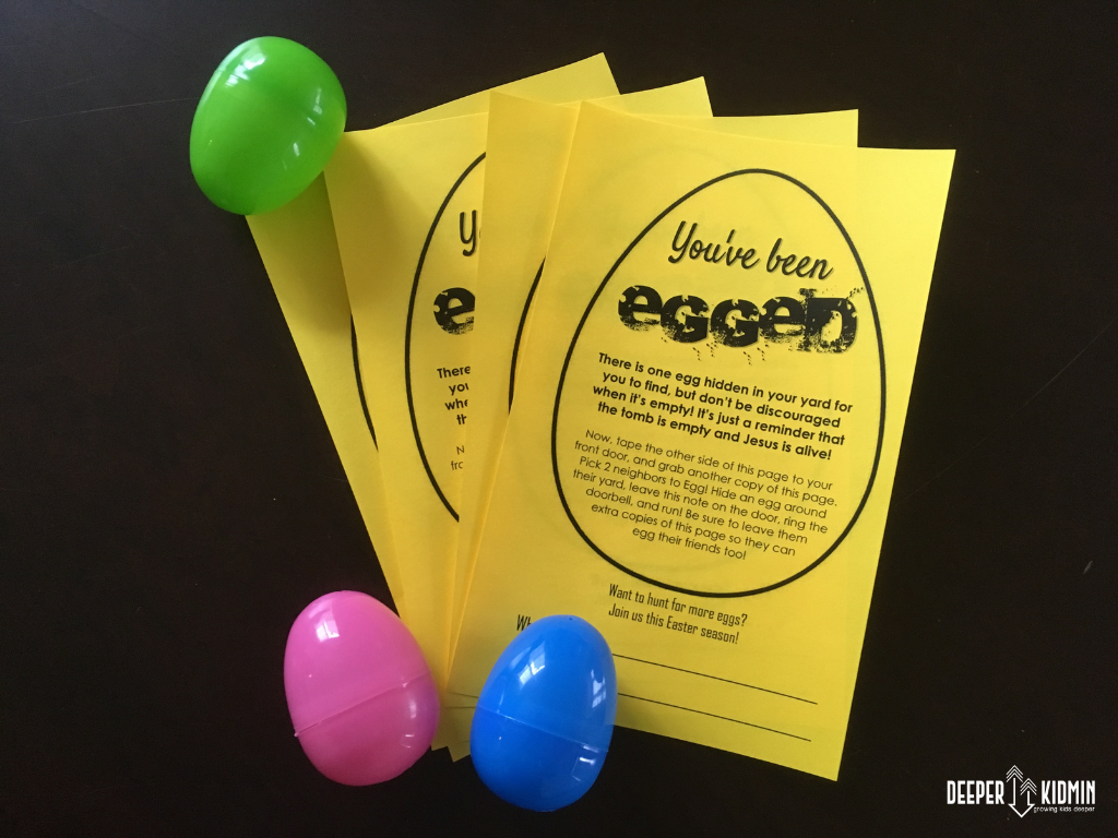 photo about You've Been Egged Printable titled Youve Been Egged Printable Further KidMin